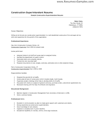 Quality Inspector Resume Construction Superintendent Resume Cover Letter Intended For 19