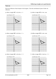 Reflections And Rotations Worksheet Transformations Search Results Teachit Maths
