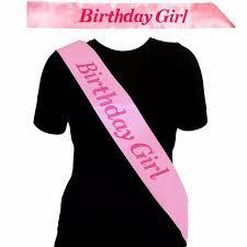 birthday girl new pink birthday girl sash in pink decoration souvenir