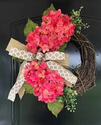 hydrangea wreath hot pink hydrangea wreath grace home