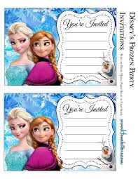 frozen birthday invitations cards custom invitations templates