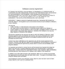 licensing agreement template free template software license agreement trial software license