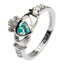 claddagh rings march birthstone claddagh ring claddagh rings rings from ireland