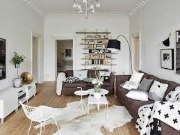 aménagement salon avec canapé marron pour y inviter le raffinement