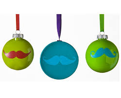 mustache ornaments with folkart multi surface paints