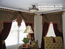 Burgundy Living Room Curtains Stylish Country Curtains For Living Room In English Style