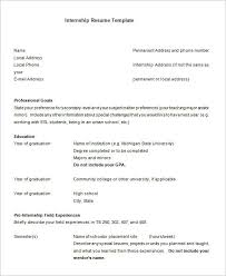 Sample Format Of A Resume by Internship Resume Template U2013 11 Free Samples Examples Psd