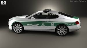 bentley 2020 360 view of bentley continental gt police dubai 2013 3d model
