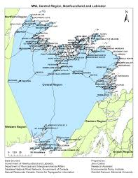 Newfoundland Canada Map by Municipalities Newfoundland And Labrador Regional Maps Exploring