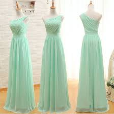 custom made a line simple elegant cheap long mint green bridesmaid