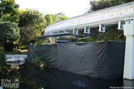 Backyard Monorail Disneyland Refurbishments Continue Before The Holidays Arrive