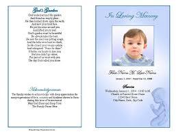 funeral program templates precious blue angel graduated fold