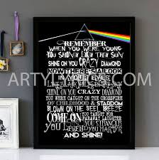 Target Wall Art by Shine On You Crazy Diamond U201d U2013 Pink Floyd U2013 Framed Lyrics Wall Art