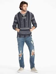 baja sweater mens heritage stripe baja hoodie lucky brand
