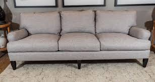 Chesterfield Sofa Linen by Late 20th Century English Arm Sofa In Grey Linen And Down Cushions