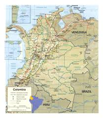 Columbia Campus Map Detailed Political And Administrative Map Of Colombia With Relief