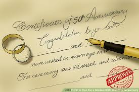 50th wedding anniversary 3 ways to plan for a golden 50th wedding anniversary wikihow