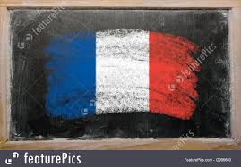 Image French Flag Flags Flag Of France On Blackboard Painted With Chalk Stock
