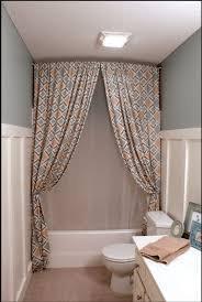 Hang Curtain From Ceiling Decorating Hang A Shower Curtain All The Way Up To The Ceiling To Make The