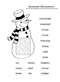 free printable snowman word search christmas resources word