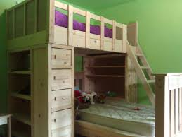 Building A Loft Bed With Storage by Ana White Cabin Bunk Beds Diy Projects