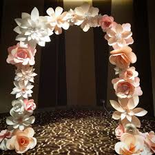 flower arch paper flower arch mixed flowers for the wedding singapore