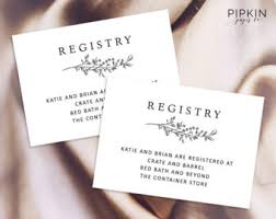 wedding registry templates accommodations cards printable wedding directions