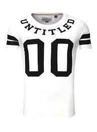 shirt herren shine fashion football print rundhals weiß