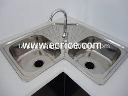 Kitchen Corner Sinks Stainless Steel by Stainless Steel Corner Kitchen Sink Befon For