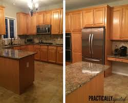 kitchen painting ideas with oak cabinets from to great a tale of painting oak cabinets