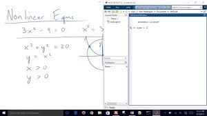 solve nonlinear equations with matlab youtube