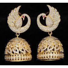 jhumkas earrings buy golden copper gold plated jhumkas earring for women online
