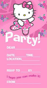 hello kitty invitations pink hello kitty ballet ballerina