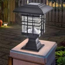 solar powered pillar lights solar powered led garden yard outdoor bollard pillar light post l