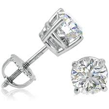 gold back earrings best 25 white gold diamond earrings ideas on gold