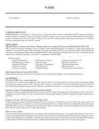 Sample Of Objective In Resume by Finance Trainee Resume Sample Resume Writing Service