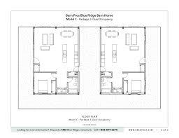 Dual Occupancy Floor Plans Blue Ridge Barn Model C