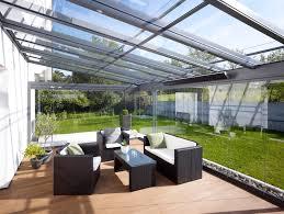 vitrage toiture veranda toiture de terrasse soprofen visiotop en aluminium pour jardin