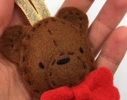 Teddy Bear Christmas Tree Ornaments by Felt Bear Ornament Etsy