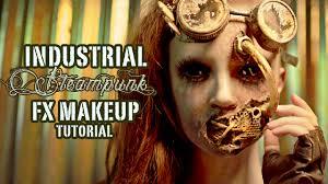 industrial steunk fx makeup tutorial part 2 application