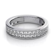 14k white gold wedding band 65 carat women s rings pave diamond wedding ring in 14k white gold