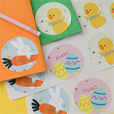 personalized easter eggs personalized easter stickers easter eggs easter bunny
