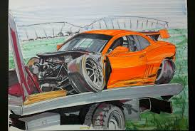 crash infamous jims auto art sketches designs fine art