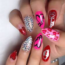 15 valentine u0027s day pointy nail art designs u0026 ideas 2017 vday