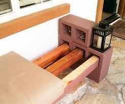 easy diy cinder block bench quiet corner