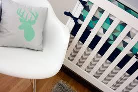 Custom Boy Crib Bedding Bedding Boy Baby Crib Bedding Navy And Citron Zig Zag Crib
