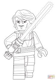 lego star wars anakin skywalker coloring page free printable