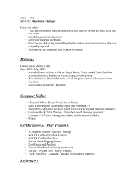 Infantry Job Description Resume by Keith Oxley Resume 7 3 15