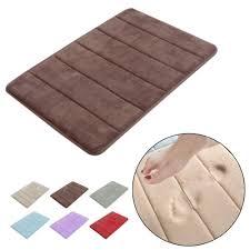 stylish design coral velvet memory foam non slip back rug soft