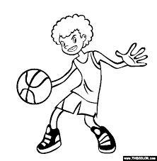 sports coloring pages 1
